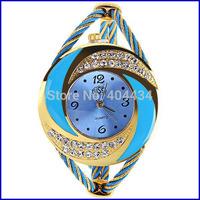 New Arrival fabulous brand High Quality Women dress watches crystal shining rhinestone Bracelet Analog Quartz Wrist Watch 100pcs