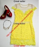 New Elegant Square Collar Stretch Slim Temperament Charm Party Bodycon Pencil Dress