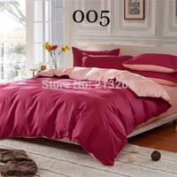 New 2014 cotton pure color  3/4pcs BEDDING  flat sheet type duvet cover set,bedclothes,pillowcase,free shipping