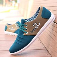 2014Summer men's flats breathable men's shoes soft casual men's Sneakers skateboarding shoes fashion beijing men's canvas shoes