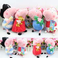Pepa Pig Toys Peppa Pig Family Friends Plush Doll Toy Ballet Pirates George Pepa Pig Brinquedos For Baby Kid Gift,23cm 4pcs/set
