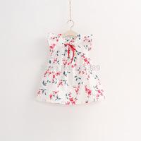 New 2014  children dresses girls princess  summer  Flowers dress for kids girls free shipping