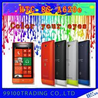 Original unlocked HTC Windows 8 Phone 8S A620e GPS WIFI 4.0''TouchScreen 5MP camera Win8  Cell Phone  Free Shipping Refurbished