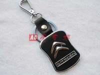 Free shipping 4 s store custom gift * Citroen car key chain * creative logo leather key chain * key ring Christmas