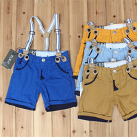 4 Color boys shorts Brand ZA UK Design kids pants 2014 new Summer children pants shorts for boys Button Zipper Overalls