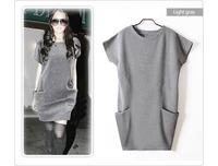 New Arrival  SUMMER  Classic best-selling    Women's woolen Dress Sweaters Casual Pocket Jersey Dresses For Women