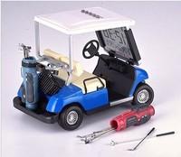 Cartoon gift mini golf ball car model alarm clock chromophous brief