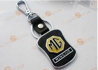 Free shipping 4 s shop customized gifts/mg MG367 car key chain/leather logo key chain Christmas