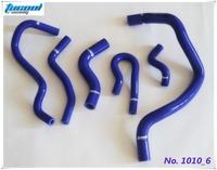 Silicone Radiator Hose Kit for CIVIC D15 D16 EG EK 92-00 6pcs Blue 1010 Free Shipping