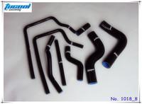 Free Shipping Silicone Radiator Hose Kit for Subaru Impreza GC8 EJ20 STI WRX GT Vers 3-6 96-00 No. 1018_8 Black