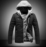 NEW 2014 Down & Parkas Men New Winter Jacket Parka Men Winter Thick Padded Outdoors Winter Jacket Men