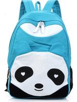 1pcs/lot fashion new style Women's cartoon  Panda Backpack Style School Bags Canvas Bookbag School Backpacks free shipping