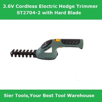 Free Shipping!/Garden Power Tools!3.6V hedge trimmer/ST2704-2 Cordless trimmer/Sier Electric pruning trimmer with trimming blade