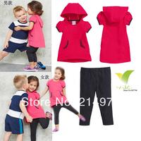 Brand AD children boys and girls fashion sport suit cloth set children cloth set kids summer two pcs set children clothing set