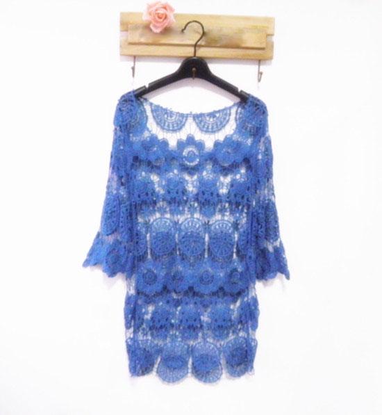 Novo sólido Moda Blusa Navy Plus Size Tops 2014 Mulheres Marca shirt vintage para mulheres meia manga Vintilate Blusa S- XL(China (Mainland))