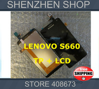 New Original LCD Display + Digitizer Touch Screen TP Glass Assembly FOR LENOVO S660 Free shipping + Tracking code