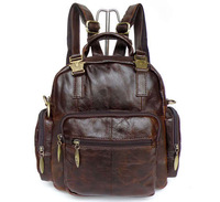 Vintage Genuine real leather Men buiness handbag laptop briefcase shoulder bag backpack / woman messenger bag JMD2546-214
