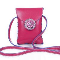2014 fashion trend in mini zero wallet diamond-encrusted mobile phone packagesred women handbag women messenger bags
