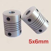 30pcs/lot 5x6mm CNC Motor Jaw Shaft Coupler 5mm to 6mm Flexible Coupling OD 19x25mm (D19 L25)