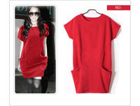 Euramerican style  loose cultivate one's morality knitted dress women summer dress & tunic