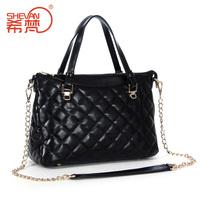2014 women's fashion genuine leather handbag fashion handbag chain greens leather bag messenger bag