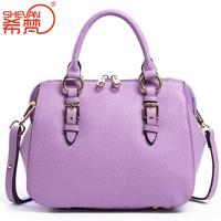 2014 women's genuine leather handbag casual women's handbag fashion cowhide messenger bag