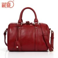 Boss women's genuine leather handbag fashion vintage handbag first layer of cowhide one shoulder cross-body bag big