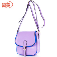 2014 women's genuine leather handbag female cowhide shoulder bag summer fashion candy color small cross-body bags