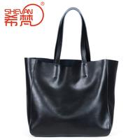 2014 female fashion one shoulder handbag genuine leather casual picture big bag