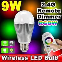 2.4G E27 9W 6W RGBW LED Light Lamp Bulb Remote Control AC86-264V Brightness Color Dimmer Temperature Adjustable