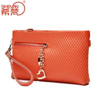 Genuine leather women's handbag 2014 day clutch female evening dress small bag fashion dinner messenger bag