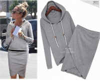 014 autumn-summer women casual dress suit baseball sweatshirt tracksuits pullovers hoodies sportswear clothing set