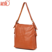 Genuine leather women's handbag casual small bag laptop bag vintage leather bags female one shoulder cross-body women's handbag