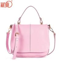 2014 spring and summer wax cowhide women's handbag fashion genuine leather handbag one shoulder cross-body bag small