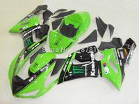 Motorcycle Fairing kit for KAWASAKI Ninja ZX-6R 05-06 ZX6R 636 2005 2006 ZX 6R 05 06 Fashion green black Fairings set KB10