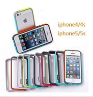 Walnutt Bumper Trio Series Case Cover for iPhone 5 5S iphone 4 4S TPU Shock Protection Case Multi-Colors opp bag DHL 300pcs/lot