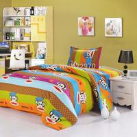 children Promotion Free Shipping  2014 New Arrival  cotton 4pcs/3pcs duvet cover cartoon sheet  pillowcase BIG MOUSE MONKEY6
