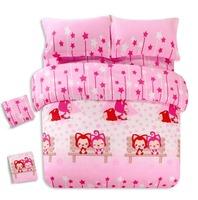 children Promotion Free Shipping  2014 New Arrival  cotton 4pcs/3pcs duvet cover cartoon sheet  pillowcase BIG MOUSE MONKEY8
