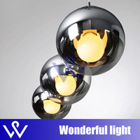 FREE SHIPPING 35cm  New Tom Dixon Shade Mirror Ball Light Pendant Chandelier Lamp Bulb