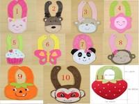 2013 Hot Sale Cotton Baby Bib Infant Saliva Towels Min.order is $10 (mix order) Free Shipping 11kind Burp Cloths U choose
