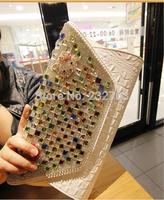 2014  fashion personality with diamond drill clutch handbag Korean version of the influx of women rhinestone clutch bag dinner