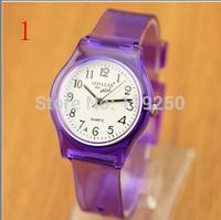 High quality-2pcs-Korean Fashion men and women lovers watch Transparent Small fresh Retro watch