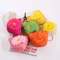 Bohemia flower woven bag rustic women's handbag straw bag messenger bag candy color beach bag innumeracy