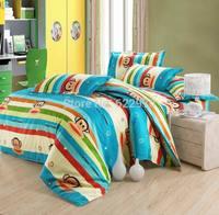 children Promotion Free Shipping  2014 New Arrival  cotton 4pcs/3pcs duvet cover cartoon sheet  pillowcase BIG MOUSE MONKEY10