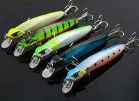 "Lot 5pcs Plastic Minnow Fishing Lures Bass CrankBait Tackle 8g/10cm/3.94"" High Quality Free Shipping"
