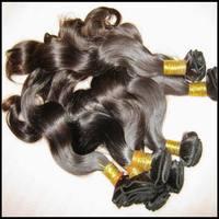 Celebrity style 7A premium un-processed Body wave Peru-vian Vir-gin hair wefts 2/3/4 bundles deal natural colors #1B BEST