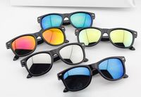 new fashion hot sale children reflective glasses rivet kids sunglasses boy/girl cool multi color wholesale free shipping