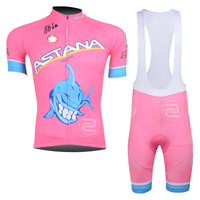 2014 Men's NEW outdoor sportwear  ASTANA pink bicycle ciclismo Cycling Wear bike apparel clothing  jersey  bib shorts sets