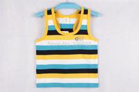 New arrival summer baby boys Stripe vest  #01351  y/b/w style 2