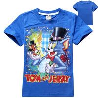 New 2015 baby Clothing Boys Tops Clothes tees shirt roupa infantil Kid Cartoon t shirt Vestidos Tom and Jerry Baby Boy t shirt
